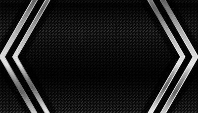 dark carbon fiber and metal geometric background
