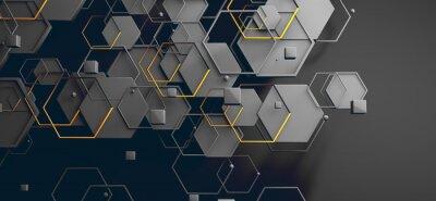 Naklejka Datos en la nube y red.Concepto de ciencia y tecnología.Malla y formas geométricas