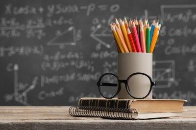 Naklejka Day international school teachers blackboard books brazil