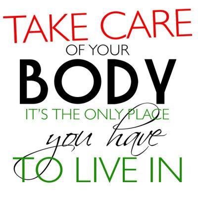 Naklejka Dbaj o swoje ciało Odds