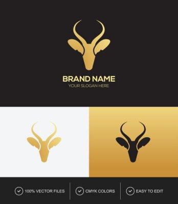 Deer head logo design vector