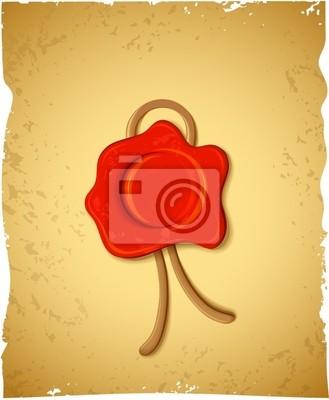 Dekoracyjne czerwona pieczęć