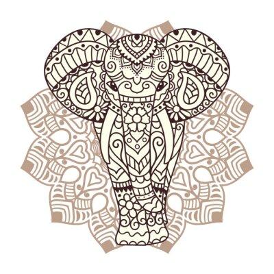 Naklejka Dekoracyjne ilustracji słonia
