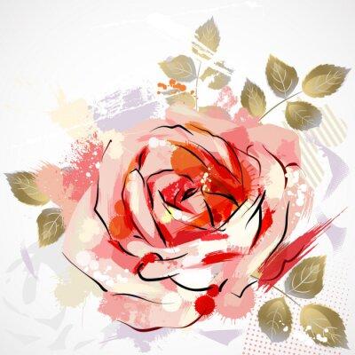 dekoracyjnych kompozycji z dużym grunge rose
