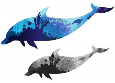 Naklejka delfin
