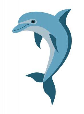 Naklejka delfin kreskówki