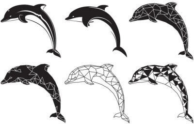 Naklejka delfiny