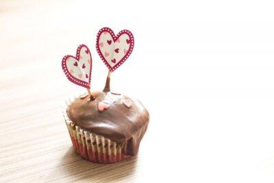 Naklejka Deser czekoladowy Muffin