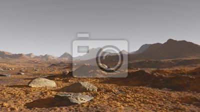 Naklejka Deserto marziano