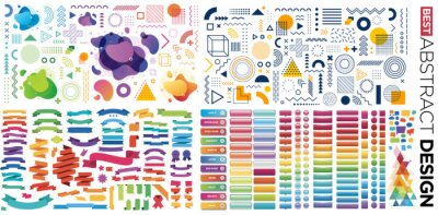 Naklejka Design, button, banner with abstract element shapes