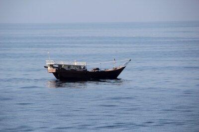 Naklejka Dhow in the Arabian Sea off the coast of Oman