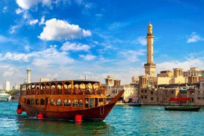 Naklejka Dhow wooden ship in Dubai