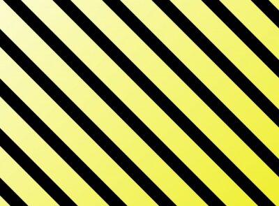 Naklejka Diagonale Streifen gelb Schwarz
