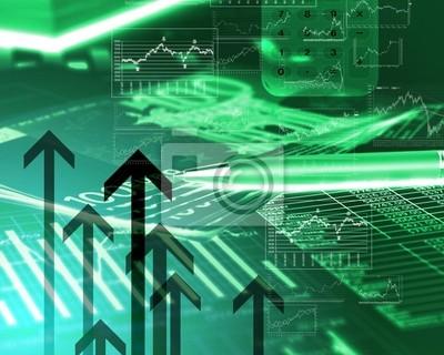 Diagramy finansowe wykresy i grafiki
