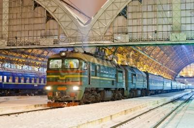 Naklejka Diesel pociąg pasażerski w Lwowie