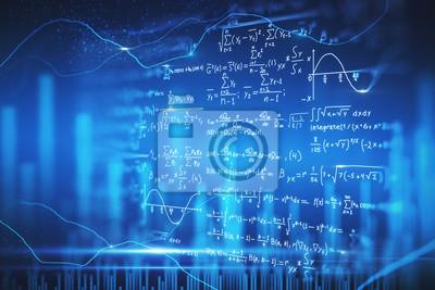 Naklejka Digital mathematical formulas wallpaper