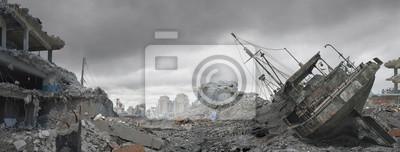 Naklejka Disaster Landscape