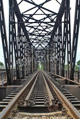 Naklejka Długość kolejowy przez rzekę