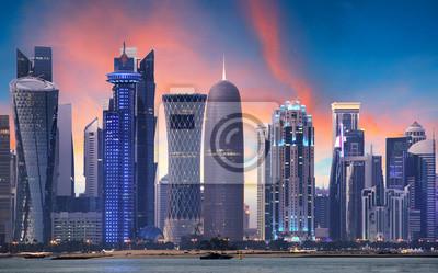 Naklejka Doha skyline, Katar