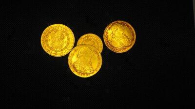 Naklejka Dolar Español. Monedas de ocho escudos y ocho reales de oro y plata de España