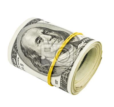 Dolar sztuk na białym tle