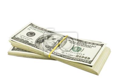 dolarów na białym tle