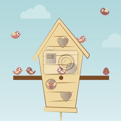 Dom Birds z wielu ptaków