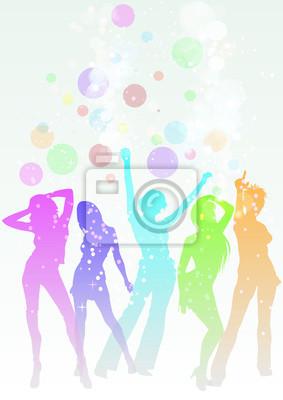 Naklejka Donne che danzano