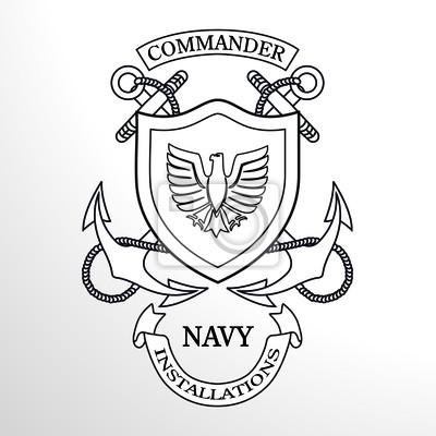 Dowódca Marynarki Wojennej Kotwica Emblem