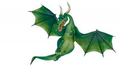 Naklejka dragon cartoon is watchingn