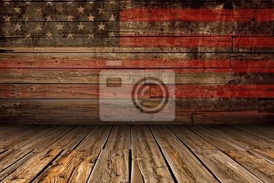 Naklejka Drewniane Amerykańska Stage
