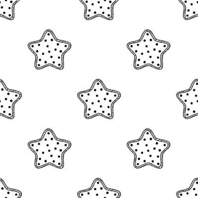 Naklejka Drewniane gwiazdek wzór 2
