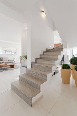 Naklejka Drewniane schody bez szyn