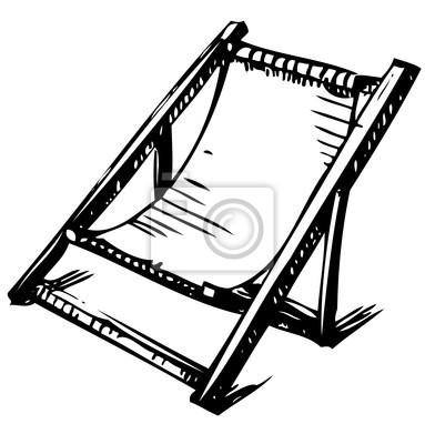 Drewniane składane szezlong na odpoczynek