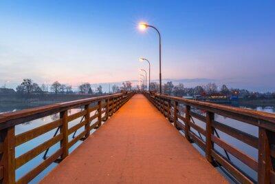 Naklejka Drewniany most na rzece Nogat w zamku w Malborku