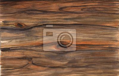 Drewno tekstury. Akwarela hfnd rysunek artystyczny realistyczne ilustracji do projektowania, tło, tekstylne.