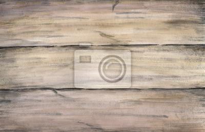 Drewno tekstury stare malowane deski. Akwarele ręcznie rysunek artystyczny realistyczne ilustracji do projektowania, tło, tekstylne.