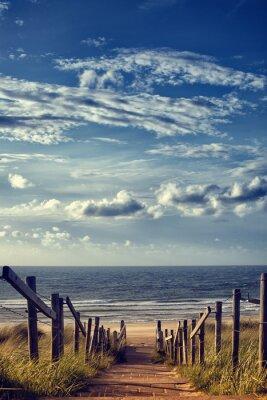 Naklejka Droga do plaży nad morzem