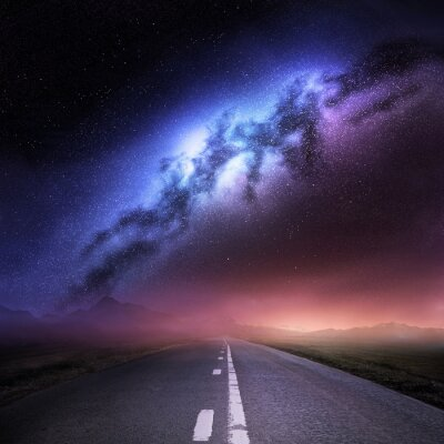 Naklejka Droga Mleczna Z Ziemi