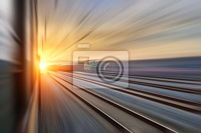 Naklejka Droga naprzód kolejowy