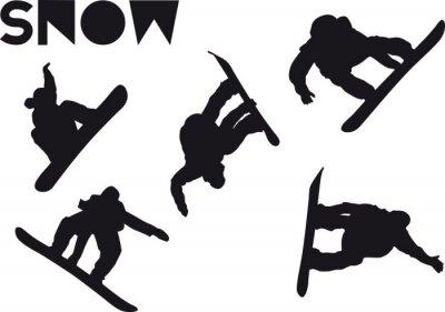 Naklejka Druck Snowboarder zestaw skok