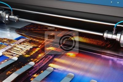 Naklejka Drukowanie banera fotograficznego na kolorowym ploterze wielkoformatowym