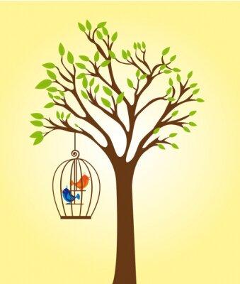 drzewo z klatki