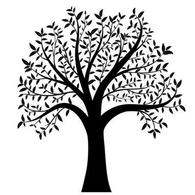 Naklejka drzewo z liści wektor