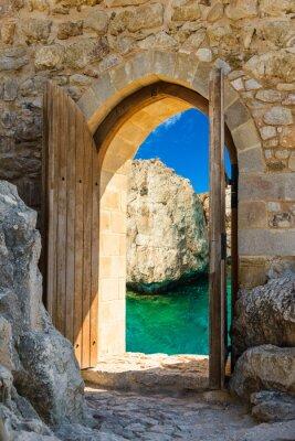 Naklejka Drzwi otwarte morze