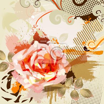 duża róża światła
