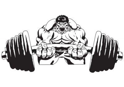 Naklejka Duża waga