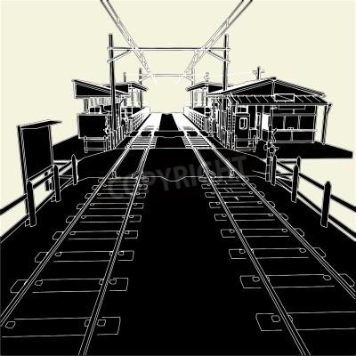 Naklejka Dworzec kolejowy Antique