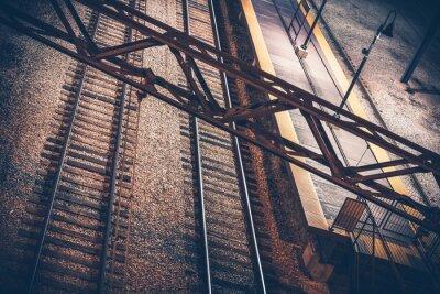 Naklejka Dworzec kolejowy w nocy