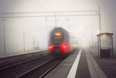 Naklejka Dworzec odejście